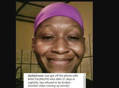 Im enjoying the Prison Life  Controversial Journalist Kemi Olunloyo sends message from PH Prison (Video)