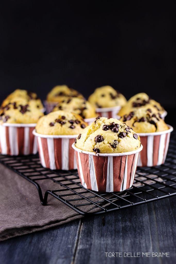 muffin con gocce di cioccolato - chocolate chip muffins