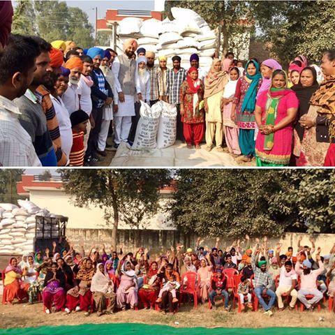 Atta Dal distributed to BPL families in Fatehgarh Churian by Ravikaran singh Kahlon, son of SAD candidate Nirmal Singh Kahlon. #AkaliDal #ProgressivePunjab #AttaDalScheme