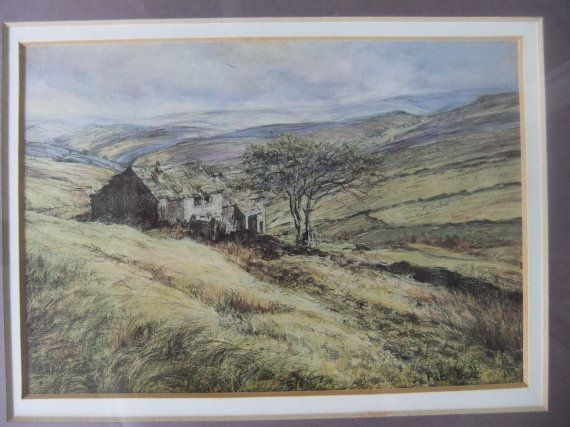 Wuthering Heights Framed Print of Watercolor by by EcruElephant