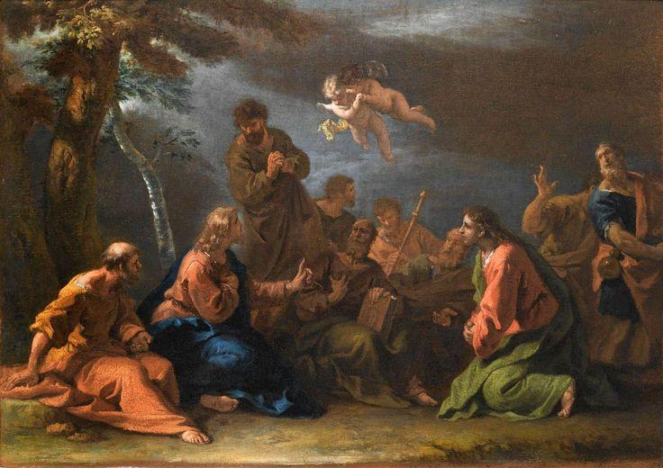 The Sermon on the Mount / El Sermón de la Montaña // c. 1725 // Sebastiano Ricci // Private collection // #Jesus #Christ #Christianity