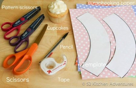 What you need to make cupcake wrappers