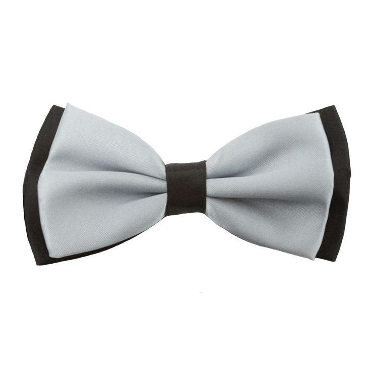 Fliege Schleife Hochzeit Anzug Smoking - schwarz-grau in Feierlichkeiten / Anlässe   • Hochzeit • Krawatten / Fliegen • Fliegen