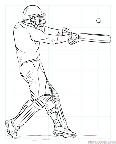 How To Draw A Cricket Player Step By Step Drawing Tutorials Cricket Teaches One Of 2 Things Precision An Sports Drawings Cricket Sport Cricket Wallpapers