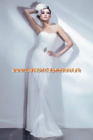 Bari Jay White Robe de Mariée - Style 2002