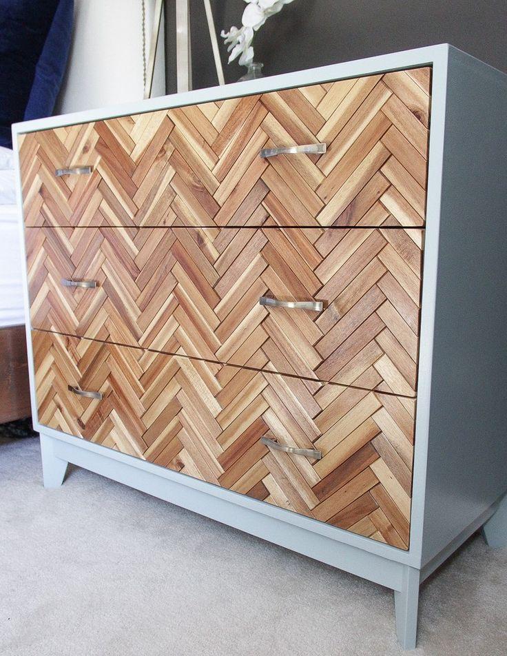 IKEA hack: pimp je oude ladekastje met houten vlonders - Roomed