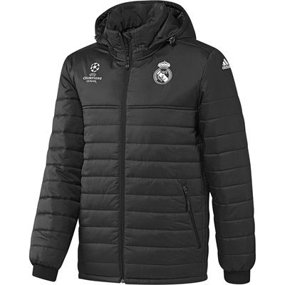 Image of Real Madrid UCL Training Padded Jacket - Dark Grey