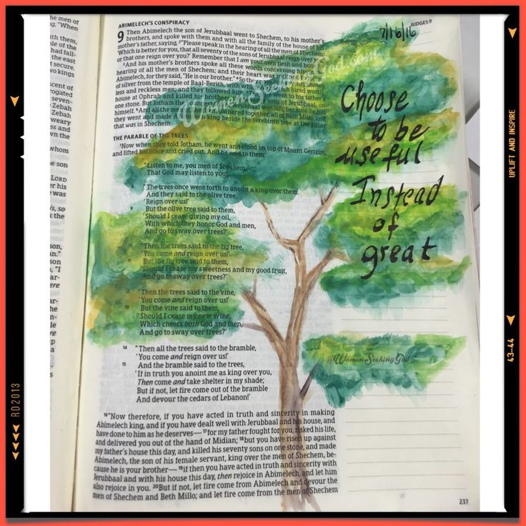 Judges 9:7-15 the swaying of the trees