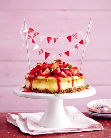 Rezept: Erdbeer-Käsekuchen