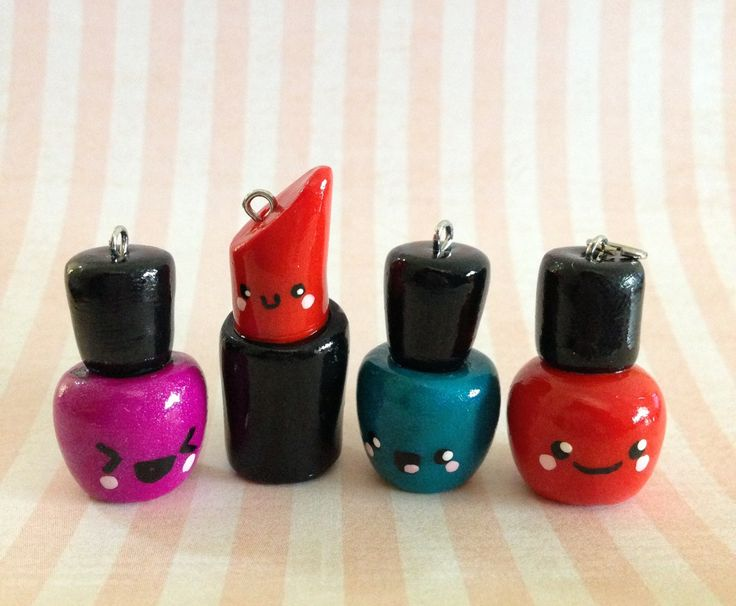 Make-up Buddies for life! Handmade from polymer clay