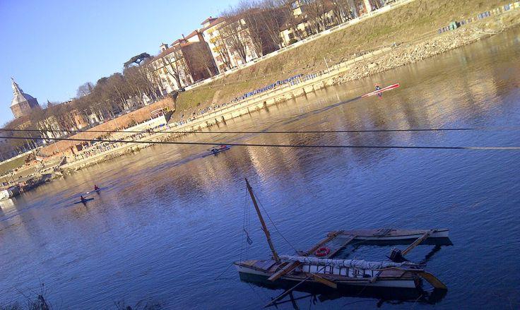 Pavia da Borgo Ticino http://notizieoggi.blogspot.it/2015/01/piacevole-pavia-in-queste-giornate-di.html