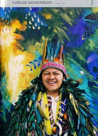 Carlos Jacanamijoy único artista colombiano de ascendencia plenamente indígena, pues pertenece a la etnia INGA….
