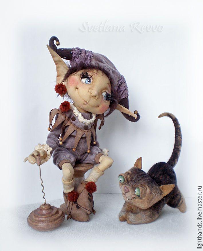 Домашний эльфик Жан-Люк и кот Леон