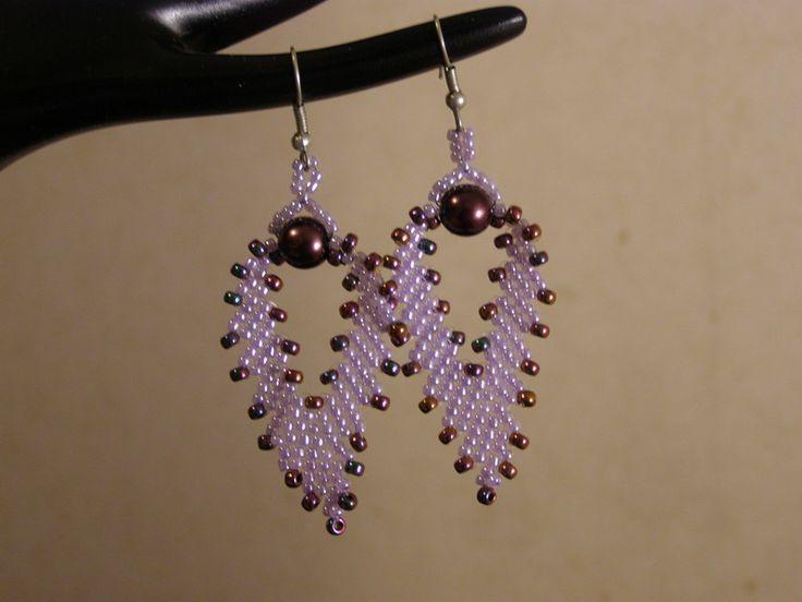 Dangle Earrings – Purple Russian leaf earrings – a unique product by DarkEyedJewels on DaWanda