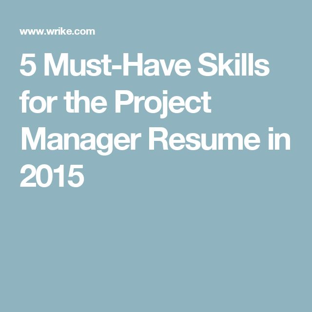 25+ Best Ideas About Project Manager Resume On Pinterest