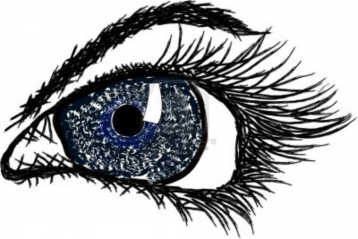 Prachtige schilderij van een menselijk oog Stockfoto