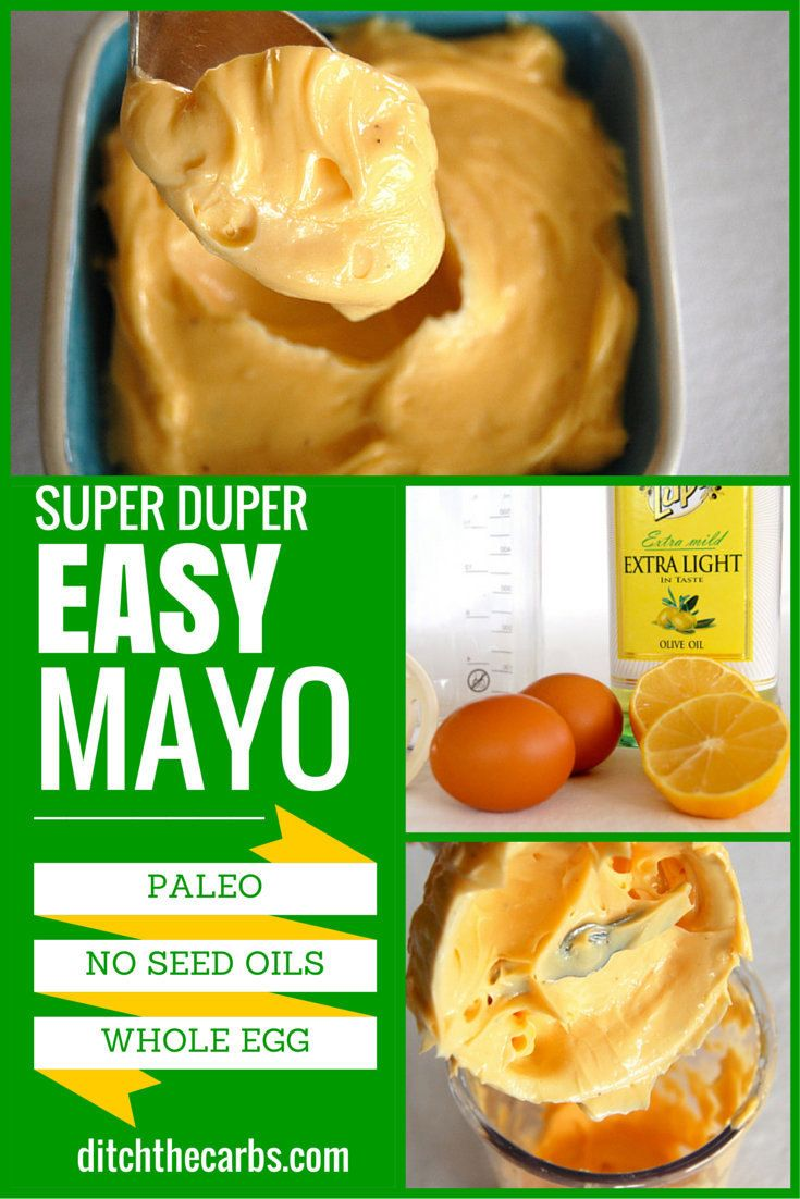 Super duper easy mayonnaise recipe which is pale, whole 30 and clean eating friendly. Only 3 ingredients plus garlic or mustard and seasoning. Sugar free, gluten free, wheat free, grain free, no preservatives, no colourings. Incredibly versatile and simple. | http://www.ditchthecarbs.com/2014/12/11/easy-mayonnaise-recipe/