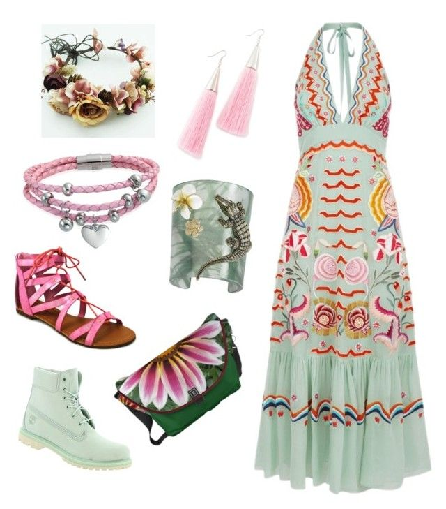 """""""WOODSTOCK HIPPIE CHIC STYLE!"""" by madhatcat on Polyvore featuring Temperley London, Timberland, Eddie Borgo, Misis, C Label and Bling Jewelry"""