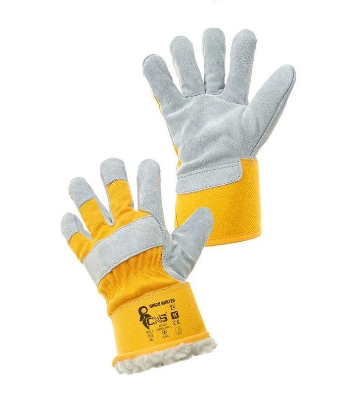 Rękawice ocieplane wzmacniane skórą bydlęcą DINGO WINTER - idealne do przeładunków w okresie zimowym