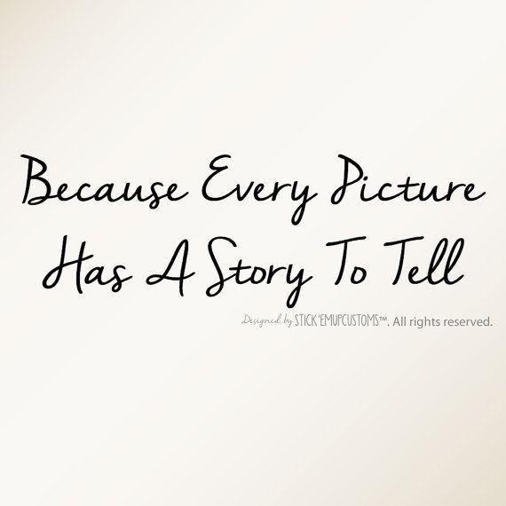 Parce que chaque image a une histoire à Tell - Wall Decal cite Home Decor Photo Frame mur Collage Accent dans ces Moments escalier décor