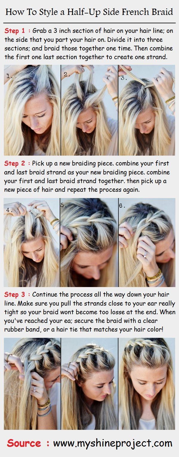 How To Style a Half-Up Side French Braid   PinTutorials