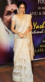 Sridevi at Yash Chopra's Memorial Awards.