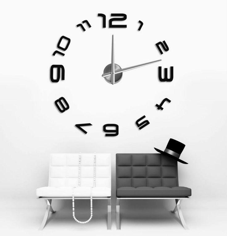 OROLOGIO DA PARETE ADESIVO - toptek.it - Orologio da parete adesivo   Decora la tua casa con un tocco di modernità  In nostro orologio da parete si ad