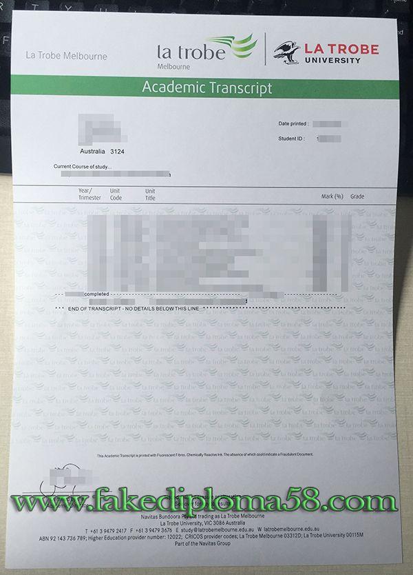 La Trobe University transcript sample skype nicko2582