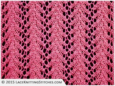 Lace Knitting 14 Fern Lace Stitch A Classic And Very Easy Lace