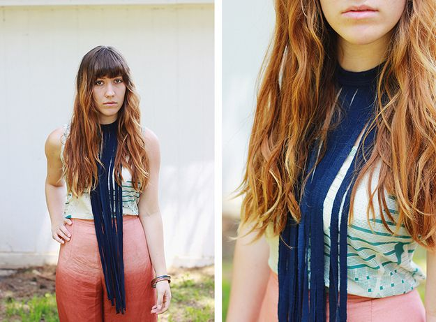 Fringe Necklace | 29 Ways To Makeover A Boxy Men's T-Shirt