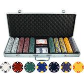 Found it at Wayfair - 500 Piece Ace King Tricolor Clay Poker Chip Set $86.61