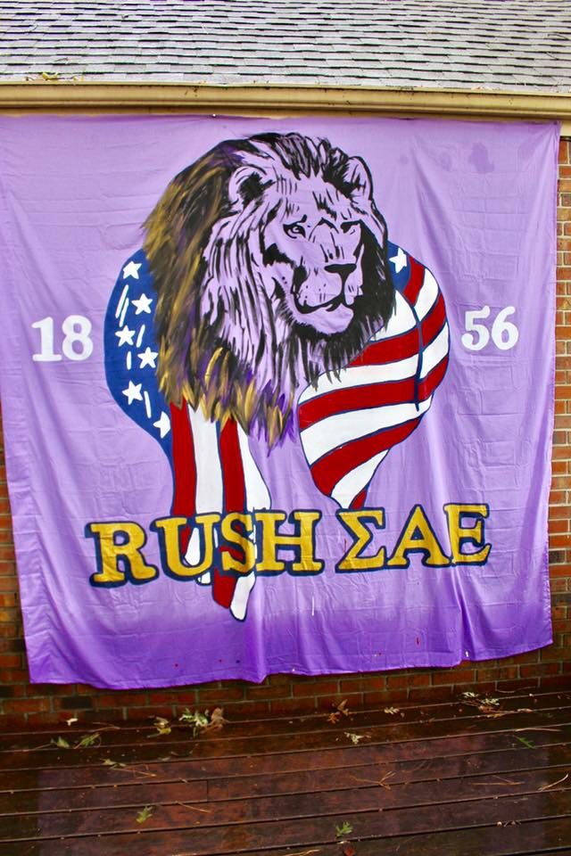 SAE fraternity banner