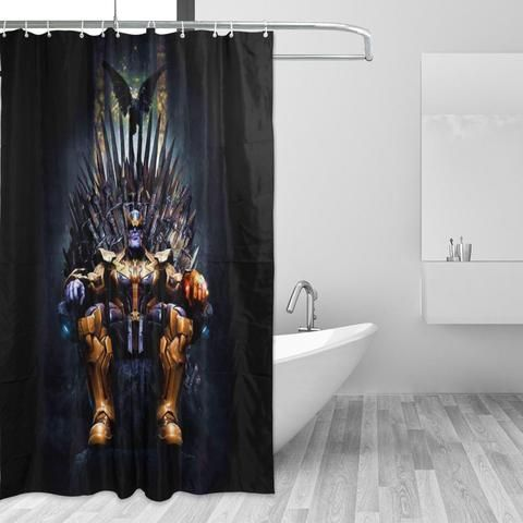 Game Of Thrones Thanos Iron Throne Black Shower Curtain Black Shower Curtains Black Shower Fabric Shower Curtains