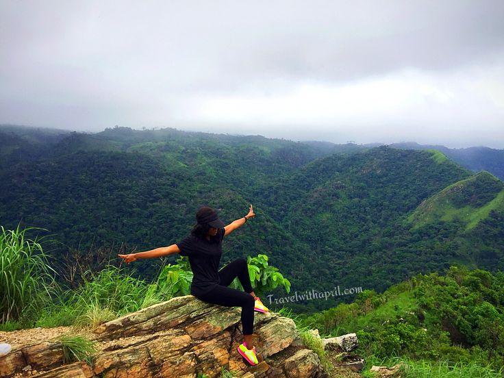 On top of Mountain Afdja, Ghana's highest mountain