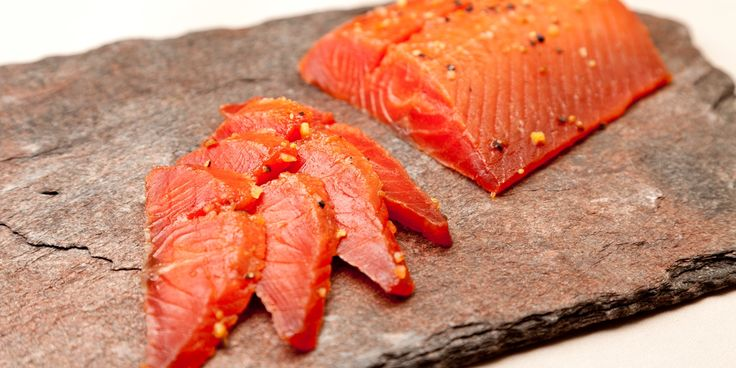 The sweet earthiness of maple syrup works fantastically with cured salmon in Pascal Aussignac's divine recipe
