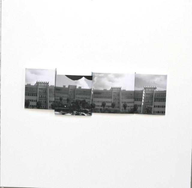 Ramón Serrano Ramon, series: Desierte Mirage, Maquette No.9, 2010, photomaquette, 24x23in © Courtesy Corkin Gallery