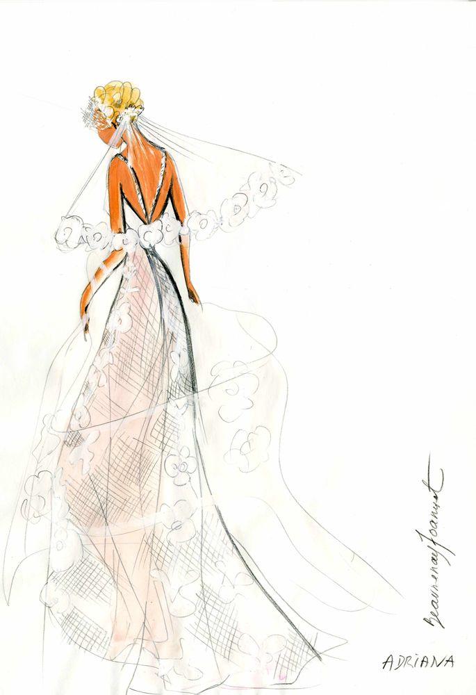 dessin robe dos nu beaumenay joannet croquis sur mesure pinterest robes. Black Bedroom Furniture Sets. Home Design Ideas