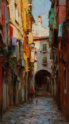 Dmitri Danish - Morning in the Old Town
