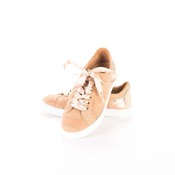 #Cork #Sneakers with #suede FREE SHIPPING WORLDWIDE / #ladies