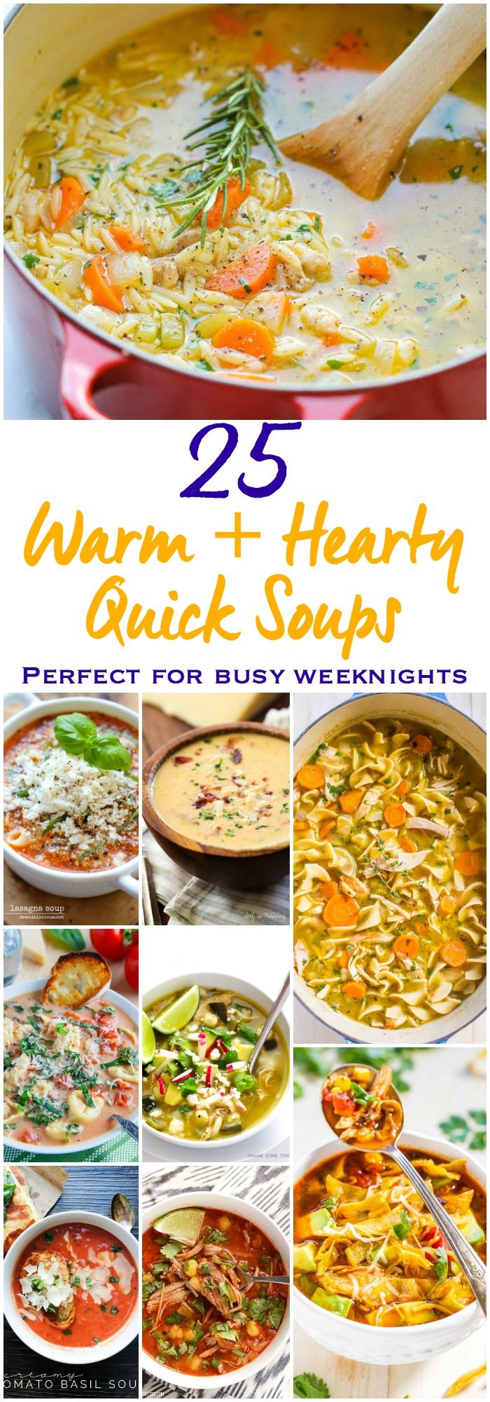 25 Best Ever Quick Soup Recipes Ready in 30 minutes or less!