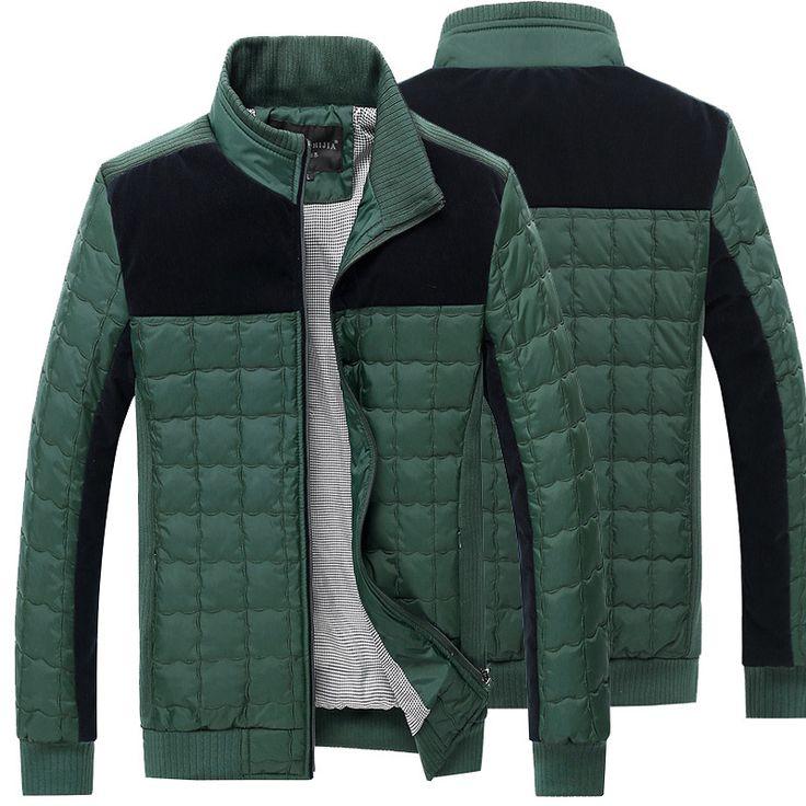 2017 Autumn Winter Duck Jacket, Ultra Light Thin plus size winter jacket for men Fashion mens Outerwear coat