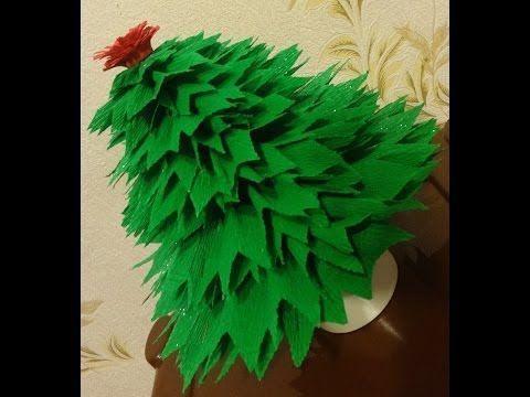 Делаем елочку из гофрированной бумаги! Готовимся к Новому году и рождеству! - YouTube