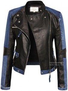 Kurtka damska Skóra + Jeans #101