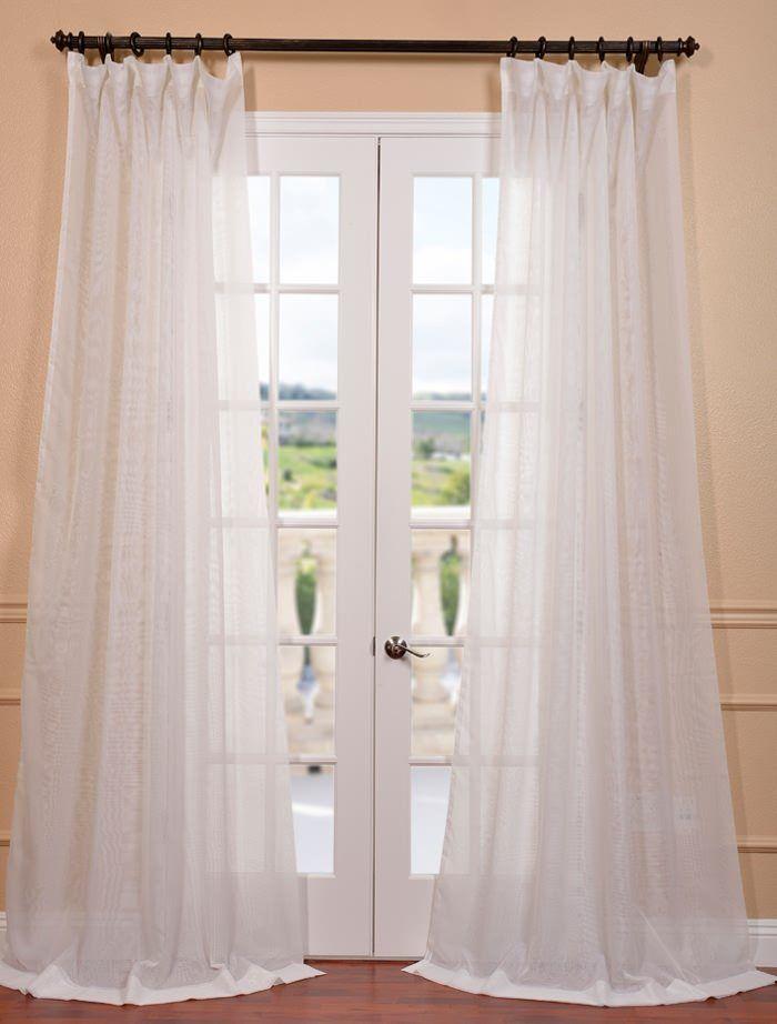 Best 25+ White sheer curtains ideas on Pinterest | Window curtains ...