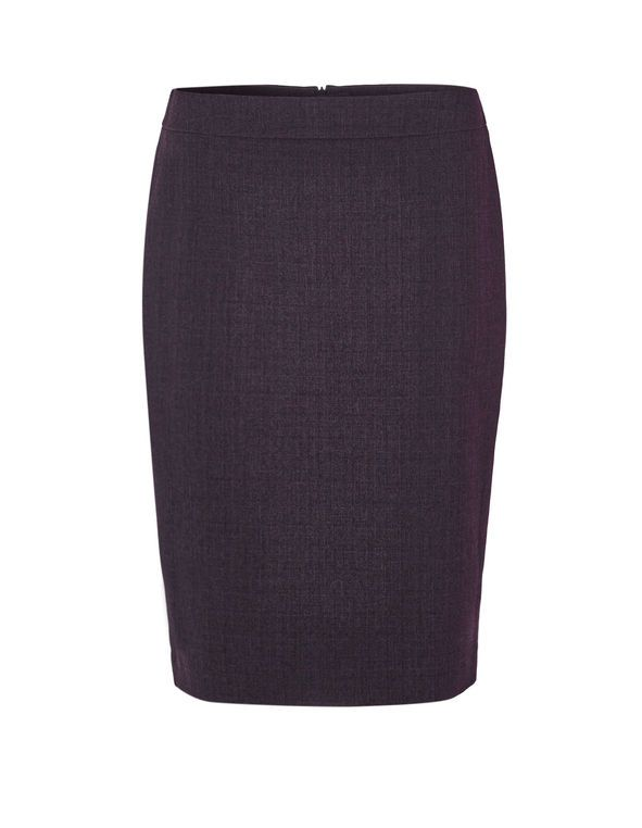 Deep Plum Suiting Skirt, Deep Plum