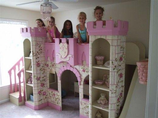 Princess Room: Girl's Princess Castle Beds