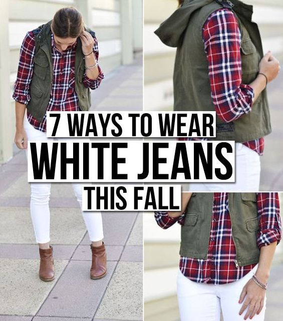 Yes, you can wear white after Labor Day! Here's your guide to white jeans this fall!