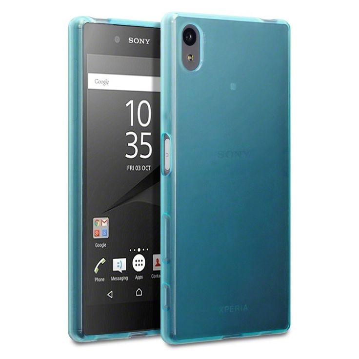 Terrapin Θήκη Σιλικόνης Slim Fit Silicone Case (118-005-255) Ημιδιάφανη Γαλάζια (Sony Xperia Z5)