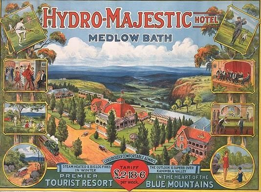 1930s poster for the Hydro Majestic hotel, Medlow Bath