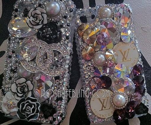 Posh.Life Bling Crystal Embellished Bling Bling Cell Phone Covers - Speak Couture